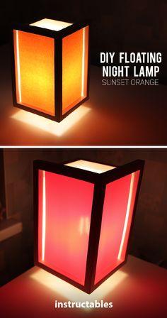 "DIY ""Floating"" Night Lamp  #lighting #decor #woodworking"