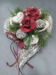 Bilderesultat for grabschmuck Seasonal Flowers, Diy Flowers, Paper Flowers, Funeral Flower Arrangements, Funeral Flowers, Christmas Wreaths, Christmas Crafts, Christmas Decorations, Sympathy Flowers