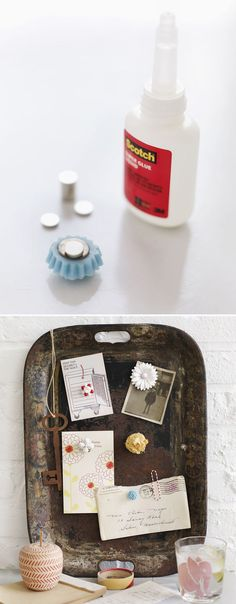 Turn broken jewelry into magnets.