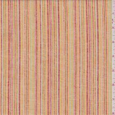 Orange Stripe Linen