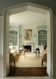 doorway. built-ins. art.