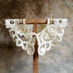 Antique French Lace Collar. French Handmade Lace. Wedding