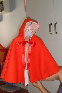 Silvania: Caperucita roja: Patron para Capa. Fairy Dress, Tiered Dress, Red Riding Hood, Diy Costumes, Cool Baby Stuff, Diy Fashion, Ball Gowns, Rain Jacket, Windbreaker