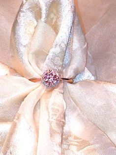 Rare Cor de Rosa Morganite Halo Ring or Engagement Ring in Rose Gold With White Topaz Halo Handmade by NorthCoastCottage Jewelry Design & Vintage Treasures on Etsy.com, $459.00