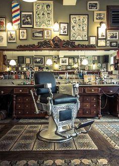 Licensed to live. Barber Shop Interior, Hair Salon Interior, Barber Shop Decor, Salon Interior Design, Classic Barber Shop, Best Barber Shop, Joe Barber, Barber Chair Vintage, Motorbike Store