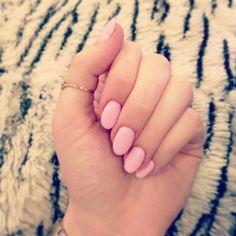 Almond nails, OPI polish