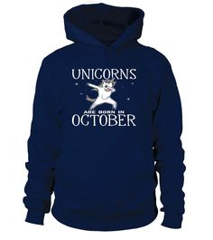 Cute Dabbing Unicorn Are Born In October LBGT Funny T Shirt