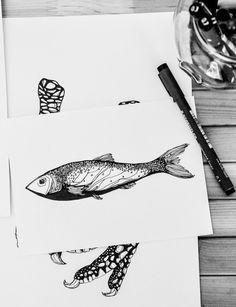 fish by AIRAMINK on Etsy
