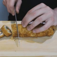 Deep fried sushi roll recipe Make Sushi Spicy lobster salad avocado cream cheese and crabmeat rolled with soy paper and then tempura deepfried with spicy mayo sauce Fried Sushi Roll Recipe, Deep Fried Sushi, Sushi Roll Recipes, Las Vegas Sushi Roll Recipe, Cooked Sushi Rolls, Cooked Sushi Recipes, California Roll Sushi, California Rolls, Snacks