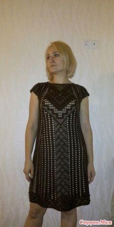 Добрый вечер, страна мам и все ее жители)) Сегодня хочу показать вам свою  большую работу крючком, я бы сказала авторскую, платье