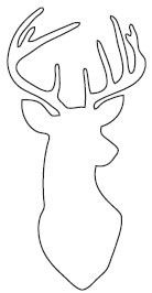 Buck head silhouette outline all about the art for Impress cards and crafts