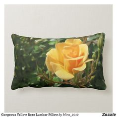 Shop Gorgeous Yellow Rose Lumbar Pillow created by Personalize it with photos & text or purchase as is! Get Well Flowers, Rose Got, Personalized Chocolate, Get Well Gifts, Lumbar Throw Pillow, Retirement Gifts, New Home Gifts, Yellow Roses, Flower Photos