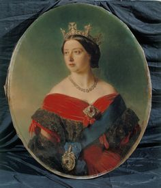 Queen Victoria in red by Winterhalter, 1856. The royal collection.