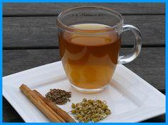 Tisane ayurvédique tridoshique du soir et du dîner : 1/8 c. à café de graines de fenouil 1/3 c. à café de cannelle (en poudre ou un petit morceau d'écorce grossièrement écrasé) 1/3 c. à café de fleurs de camomille séchées 1 tasse d'eau