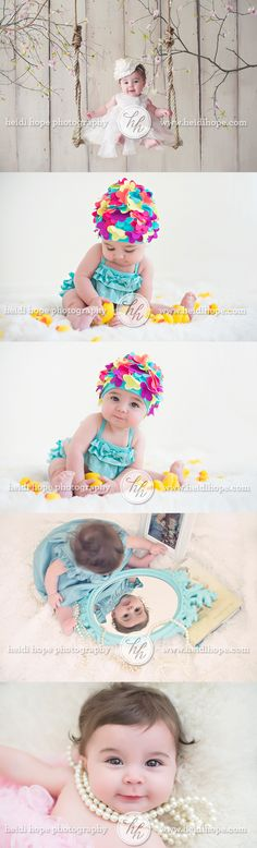 Cute lil lass shoot, do w/ different ideas for Lila though. Except pearls. Love the pearl necklace pic and pink dress Toddler Photography, Girl Photography, Newborn Photography, White Photography, Newborn Pictures, Baby Pictures, Shooting Photo Studio, Cute Babies, Baby Kids