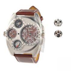 Desportivo e Casual relógios Redondo de Pulso  €14.99 Chronograph, Casual, Accessories, Outfit, Clock, Casual Clothes, Ornament