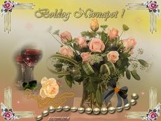 3 Gif, Birthday Name, Name Day, Beautiful Roses, Table Decorations, Happy, Flowers, Photography, Bling