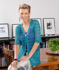Crochet ~ Warm Weather Jacket ~ Size S-2X ~ Size 3 Crochet Thread