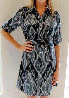 Black cotton ikat dress by @Cj Laing #madeintheusa