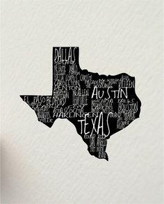 a word about TEXAS Austin USA 8 x 10 digital by hunterandsmile, $17.50