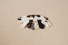 Remiendo del bordado, divisa del bordado, bordado a mano, Hecho A Mano, gato, gato, Entre Padres e hijos
