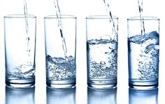 water - Research has shown that people who drink only when thirsty get enough water to stay properly hydrated.  Many people forget that soup, fruit, vegetables, juice, tea, and coffee are all high in water content and ultimately contribute to your daily H2O intake.