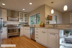 Lovely new IKEA kitchen in a Portland home that we just staged www.RoomSolutions.com  #HomeStagingPortland