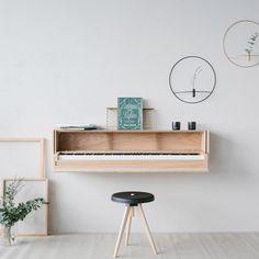 Piano – new interpretation – German Design Graduates Piano Living Rooms, Living Room Built Ins, Living Room Interior, Living Room Decor, Bedroom Decor, Music Studio Decor, Home Studio Music, Das Piano, Piano Room Decor