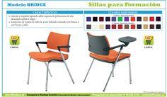 sillas para salas de formación, audiovisual, conferencias. Sillas de oficina #OfficeDeco