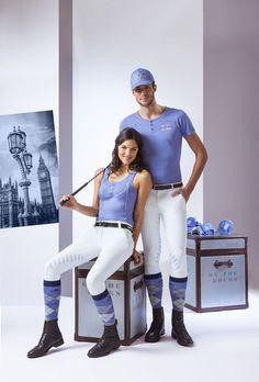 "Pantaloni equitazione uomo EQUI-THEME ""Aqua"" per monta inglese."