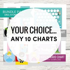 Get the BUNDLE of Kids Reward Chart Printables and save BIG! {SAVE $22} You pick any 10 designs of my reward charts, chore Charts, reward coupons, or punch cards! They can all be found here >>> http://etsy.me/1ngWMbz When you are purchasing this listing just leave a note to me in the