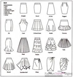 32 Ideas For Fashion Drawing Skirt Design Reference Skirt Fashion, Diy Fashion, Ideias Fashion, Tomboy Fashion, Moda Fashion, Korean Fashion, Spring Fashion, Fashion Ideas, Fashion Dresses