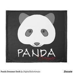 Panda Dreamer Dark Duvet Cover