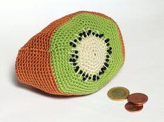 Portamonete kiwi uncinetto di ColoriDellArcobaleno su Etsy, €14.99