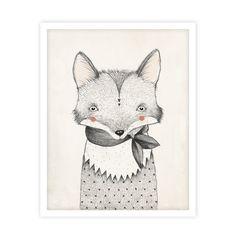Fox Print by Kelli Murray