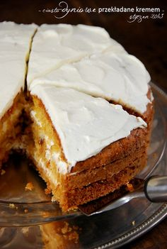 Dyniowe ciasto z kremem