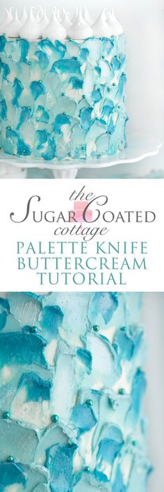 Palette Knife Buttercream Tutorial - The Sugar Coated Cottage - with buttercream and a palette knife Abstract Portrait Painting, Portrait Paintings, Acrylic Paintings, Art Paintings, Abstract Art, Acrylic Art, Painter Cake, Cottage Meals, Contemporary Wall Art