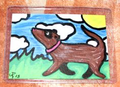 Sunny Furday Walk -For Sale $15  Includes US Ship- by TheFlyinFerret.deviantart.com on @DeviantArt Art Cards, Mini Paintings, Us Shipping, Scooby Doo, Sunnies, Disney Characters, Fictional Characters, Walking, Deviantart