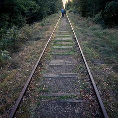 """Going along the tracks through the Bialowieza Forest. Near the place called """"Miejsce Mocy"""" #agadelas #bialowiezaforest"""