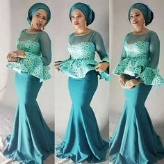 If there's one thing we can't get enough of its Nigerian fashionistas nailing their own personal style in timeless Aso-Ebi styles. Each week we bring you our Aso-Ebi style pick… African Dresses For Women, African Attire, African Wear, African Fashion Dresses, African Women, African Beauty, Ghanaian Fashion, African Outfits, Hijab Fashion