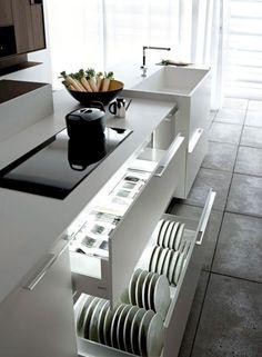 40 Marvelous Kitchen Cupboard Organization Ideas - Page 3 of 50 Budget Kitchen Remodel, Kitchen On A Budget, New Kitchen, Kitchen Decor, Kitchen Ideas, Cheap Kitchen, Kitchen Layout, Kitchen Cupboard Organization, Cupboard Design
