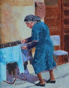 Cyprus Woman German, Painting, Art, Deutsch, Art Background, German Language, Painting Art, Paintings, Kunst
