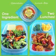 One Ingredient, Two Lunches - Trader Joe's Style! Both made with mixed Asian Vegetables from Trader Joe's. @EasyLunchboxes
