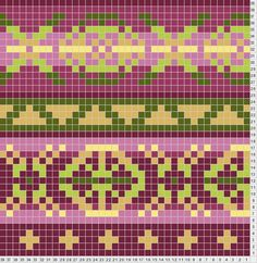 3 color fair isle chart