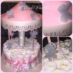 1 Tier Carousel Diaper Cake von AngelasWorkOfheART auf Etsy