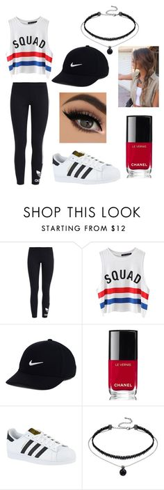 """""""Tourist Outfit"""" by simplycaro242 ❤ liked on Polyvore featuring adidas Originals, Chicnova Fashion, NIKE, Chanel and adidas"""