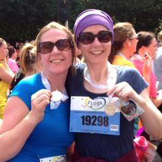 Sisters Aisling and Cliona ran the Flora Women's Mini Marathon in Dublin on Monday to raise a whopping £980 for Child of Hope... thank you ladies!