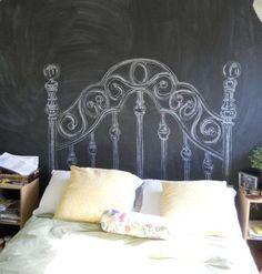 La pintura de pizarra en cualquier color puede ayudarnos en la decoración de interiores. Ideas para mejorar los ambientes de nuestras estancias. Fotos