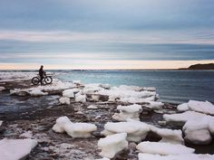 Ice hopping at Pogey Beach. Fat Bike, Ice, Beach, Instagram Posts, Photos, Pictures, The Beach, Ice Cream, Cake Smash Pictures