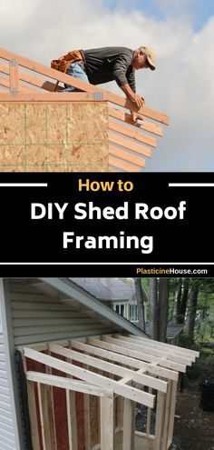 How to DIY Shed Roof Framing [Step by Step Guide] Plans Woodworking Toy Chest Diy Shed Plans, Storage Shed Plans, Loft Storage, Kitchen Storage, Roof Soffits, Roof Trusses, Shed Frame, Lean To Shed, Backyard Sheds